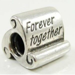 RETIRED Pandora forever together scroll charm